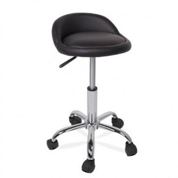 Sgabello con schienale per scrivanie, sgabelli design con ruote per ufficio e cucina.