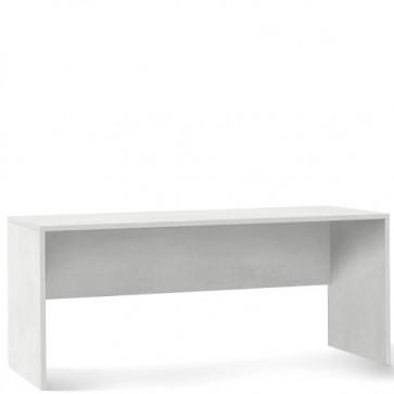 Scrivania ufficio bianca larga 180 cm. Scrivanie Sarmog in legno porta pc per arredamento camerette, dimensioni 76x180x69 cm.