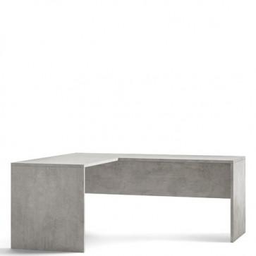 Scrivania angolare cemento larga 180 cm. Scrivanie ufficio Sarmog in legno porta pc per arredamento camerette, dimensioni 76x180x69 cm.