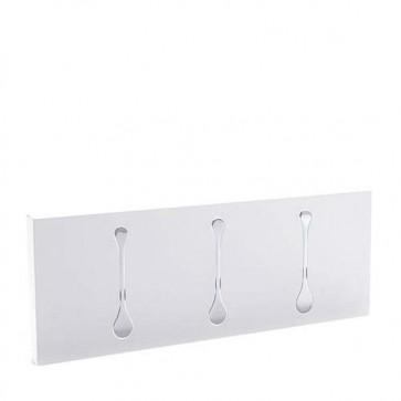 Appendiabiti da muro Tomasucci in metallo bianco, per casa e ufficio. Attaccapanni design da parete