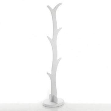 Appendiabiti da terra Tomasucci in MDF laccato bianco opaco, per casa e ufficio. Attaccapanni design in legno