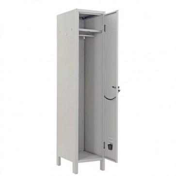 Armadietto metallico ufficio un posto, armadio in metallo 1 anta con serratura. Armadietti spogliatoio metallici