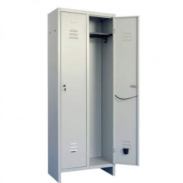 Armadietto metallico ufficio due posti, armadio in metallo 2 ante con serratura. Armadietti spogliatoio metallici