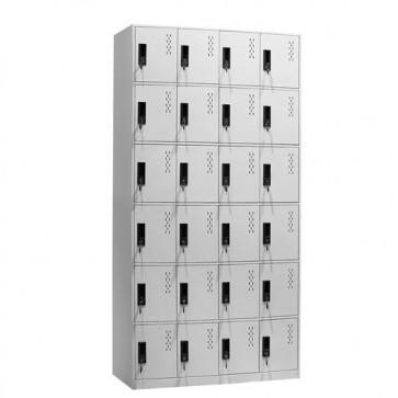 Armadietto metallico ufficio, armadio casellario spogliatoio in metallo con serratura. Armadi casellari portaoggetti con 24 ante
