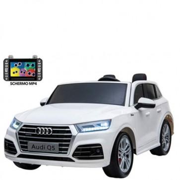 Auto elettrica per bambini Audi Q5 12v 2 posti, con telecomando e sedili in similpelle