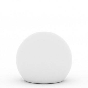 Lampada a palla da giardino, in resina bianca per esterno. Lampade da terra a sfera illuminate di luce bianca, ideali anche per il terrazzo e bordo piscina.