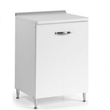 Mobile per cucina componibile con anta 60 cm bianco frassinato. Mobili base per cucine componibili, dimensioni 85x60x50 cm.