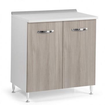 Mobile per cucina componibile 80 cm con due ante olmo. Mobili base per cucine componibili, dimensioni 85x80x50 cm.