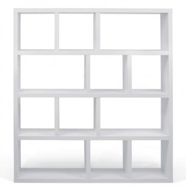 Libreria design in legno Temahome per casa e ufficio. Librerie in quercia, noce e bianco, dimensioni 159x150x34 cm.