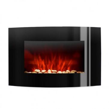 Caminetto elettrico 2000w da parete effetto fiamma con telecomando.
