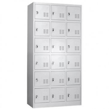 Armadietto ufficio spogliatoio con 18 armadietti casellari portaoggetti.