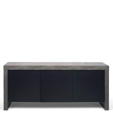 Credenze buffet moderne TemaHome con 3 ante. Mobile basso grigio per cucina e soggiorno