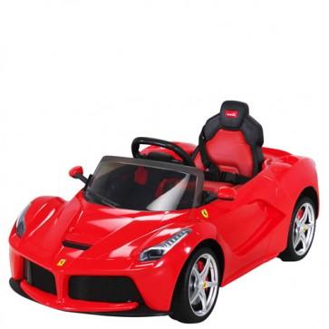 Auto elettrica bambini Ferrari con telecomando. Macchina elettrica sportiva 12V colore rosso per bambino con radiocomando.
