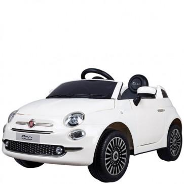 Auto elettrica per bambini Fiat 500, con telecomando. Macchina elettriche 12V un posto per bambino con radiocomando.