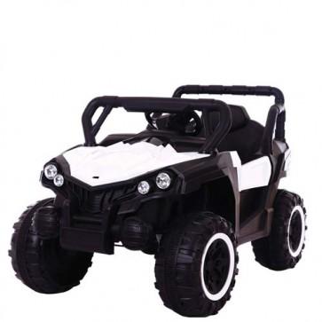 Macchina elettrica 12 Volt per bambini con telecomando. Fuoristrada elettrico SUV colore bianco Mp3 per bambino con radiocomando.
