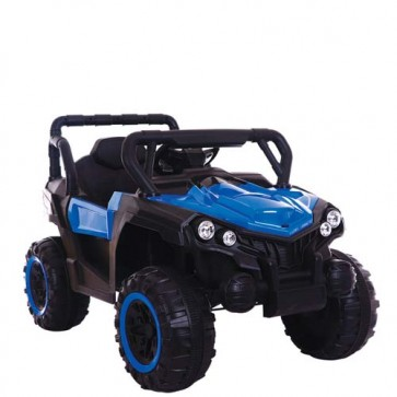 Macchina elettrica 12 Volt per bambini con telecomando. Fuoristrada elettrico SUV colore blu Mp3 per bambino con radiocomando.