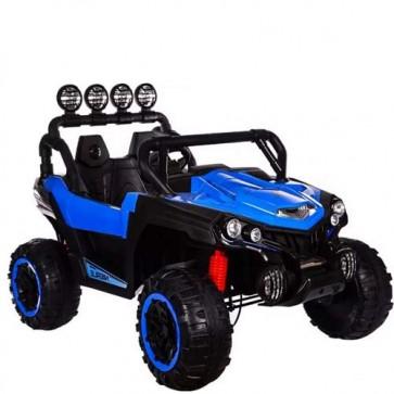 Auto elettrica per bambini 12 Volt due posti con telecomando e bluetooth. Macchina SUV elettrico colore blu