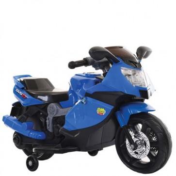 Moto elettrica sportiva per bambini con luci e musica, Motocicletta blu