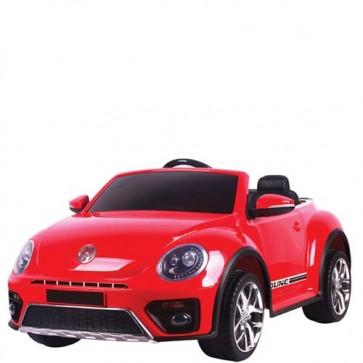 Auto elettriche con batteria 12 volt, maggiolino cabrio Volkswagen per bambini con telecomando. Maggiolone macchina elettrica rossa per bambino con radiocomando.