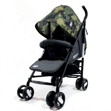 Passeggini leggeri 4 ruote per bambini richiudibile a ombrello, passeggino leggero da viaggio per bambino colore verde militare e grigio. Carrozzina neonato completa di borsa.