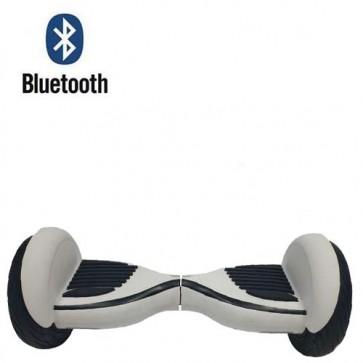Monopattino elettrico bilanciato bianco 10.5 pollici con bluetooth. Lo smart balance wheel è semplicissimo da guidare, overboard scooter con fari led