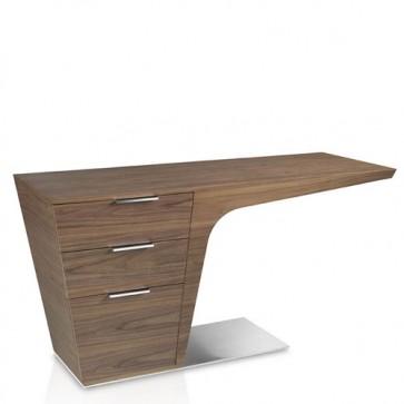 Scrivania Pc noce Angel Cerdà dal design moderno, scrivanie da studio con cassetti per ufficio e casa.