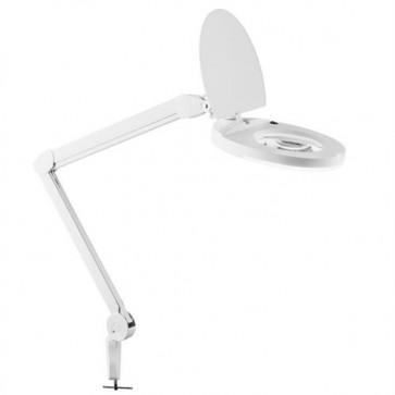 Lampada fluorescente 22w con lente d'ingrandimento da tavolo.