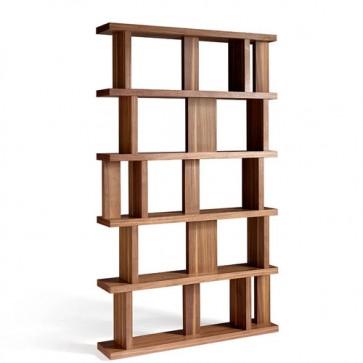 Libreria design in legno Angel Cerdà per casa e ufficio. Librerie classiche e moderne in noce.
