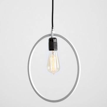 Lampadario piatto in metallo Customform, colore bianco. Lampadari sospensione design moderni soggiorno.