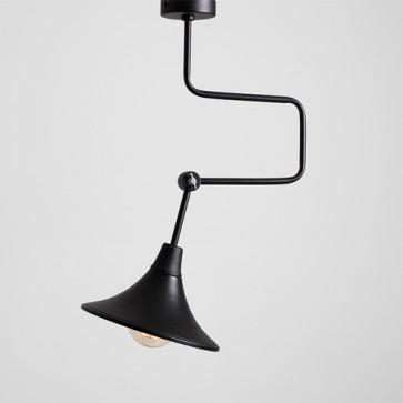 Lampada moderna salotto Customform, colore nero. Lampade sospensione design industriale cucina e soggiorno.