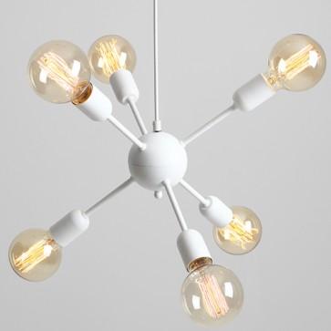 Lampadario moderno da cucina a soffitto Customform, colore bianco.