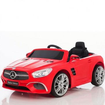 Auto elettrica per bambini Mercedes SL400 con telecomando e sedile in ecopelle. Macchina elettriche per bambino con batteria 12V e radiocomando.
