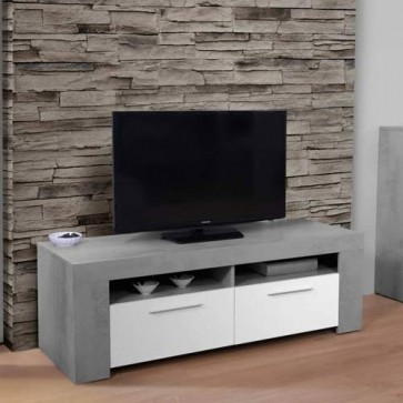 Mobile porta TV basso Ambit dal design moderno. Parete attrezzata moderna bianca