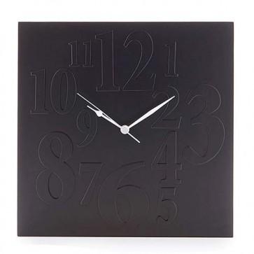 Orologio da parete Tomasucci nero, orologi di design per la casa e in ufficio.