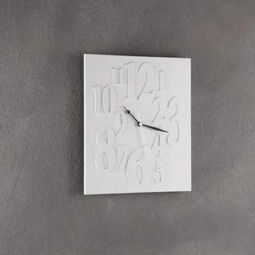 Orologio da parete Tomasucci bianco, orologi di design per la casa e in ufficio.