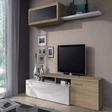 Mobile porta TV basso Fores dal design scandinavo. Parete attrezzata moderna