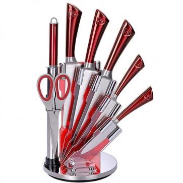 Set coltelli professionali Royalty Line, coltello con lame in acciaio inox, forbici e affilacoltelli per cucina.