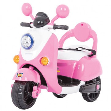 Scooter elettrico rosa per bambine con retromarcia, vespa elettrica bimba 6 volt.