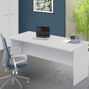 Scrivania ufficio bianco frassinato larga 180 cm. Scrivanie in legno porta pc per arredamento camerette, dimensioni  74x180x80 cm.