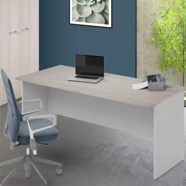 Scrivania ufficio olmo larga 180 cm. Scrivanie in legno porta pc per arredamento camerette, dimensioni  74x180x80 cm.