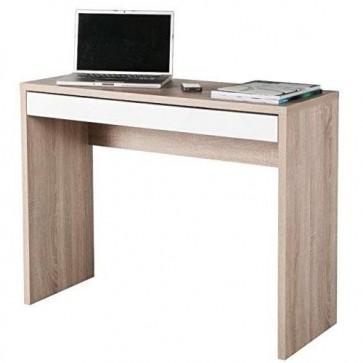 Scrivania ufficio reception rovere dimensioni 100x40x80h cm, scrivanie in legno melaminico con cassetto