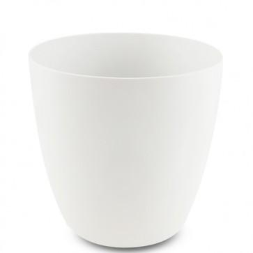 Lavabo bagno da appoggio in resina a forma di secchio, lavandini design moderno colore bianco