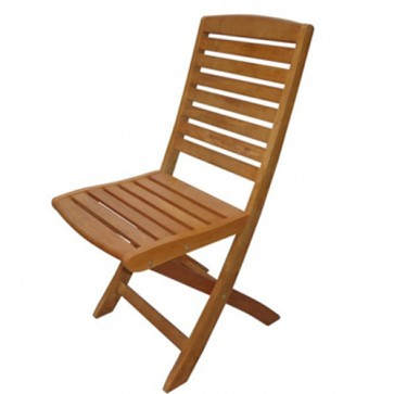 Sedia pieghevole in legno da giardino, set due sedie pieghevoli da esterno per terrazzo.