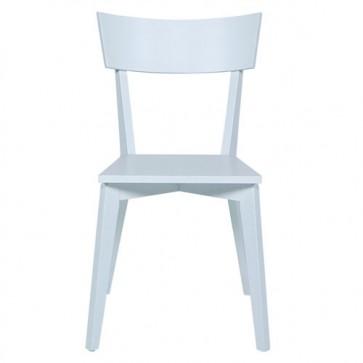 Sedia cucina in legno massello laccato bianco opaco, Set 2 sedie design soggiorno da abbinare a un tavolo della stessa linea.