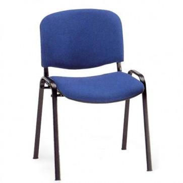 Sedia interlocutoria ufficio in tessuto blu, sedie per scrivania, sala riunioni o d'attesa.
