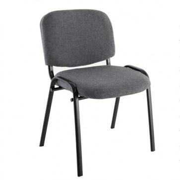 Sedia interlocutoria ufficio in tessuto grigio, sedie per scrivania, sala riunioni o d'attesa.