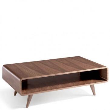 Tavolino salotto Angel Cerdà realizzato in noce. Tavolini soggiorno con piedini in legno.