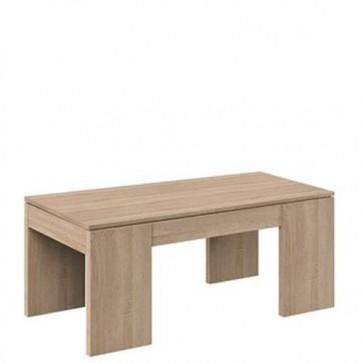 Tavolino salotto rovere in legno con piano elevabile e spazio contenitore, tavolini soggiorno
