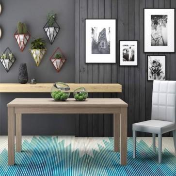 Tavolo da pranzo colore Olmo allungabile di 80 cm, tavoli da cucina allungabili con gambe in faggio. Dimensioni 160x90 cm