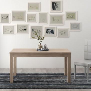Tavolo da pranzo allungabile di 40 cm, tavoli da cucina allungabili con gambe in faggio. Dimensioni 110x70 cm